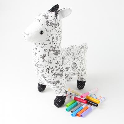 Lama - om in te kleuren